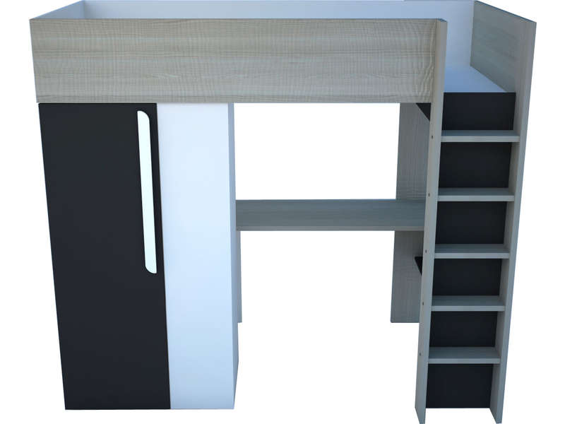 lit combin 90x200 cm uno f4 pas cher lit enfant. Black Bedroom Furniture Sets. Home Design Ideas