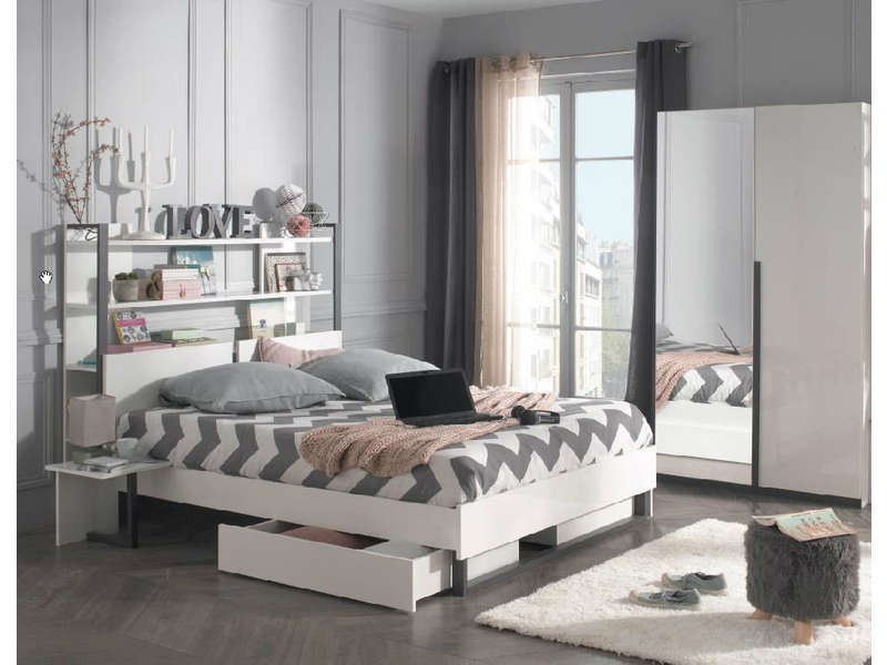 chambre compl te alba pas cher chambre compl te. Black Bedroom Furniture Sets. Home Design Ideas