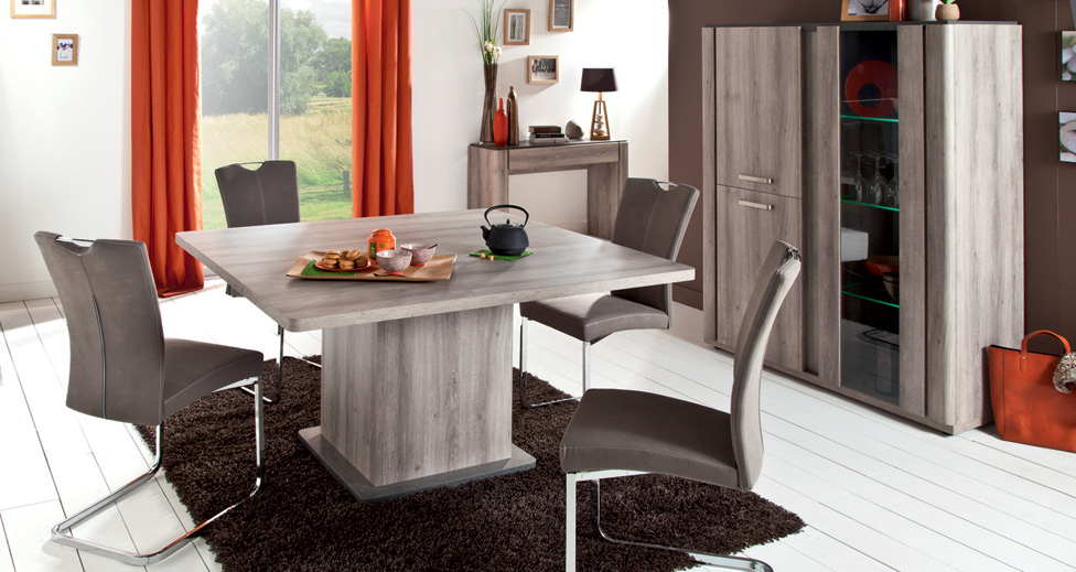 Table carr e landen table de salle manger conforama for Conforama table manger