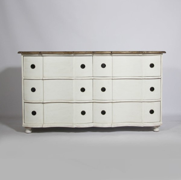 Commode tombeau 6 tiroirs Baroque Made In Meubles - Commode ...