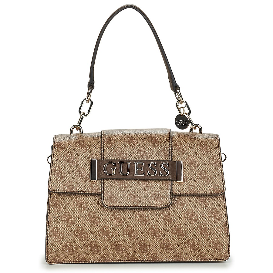 Guess KERRIGAN Sac porté Main Marron