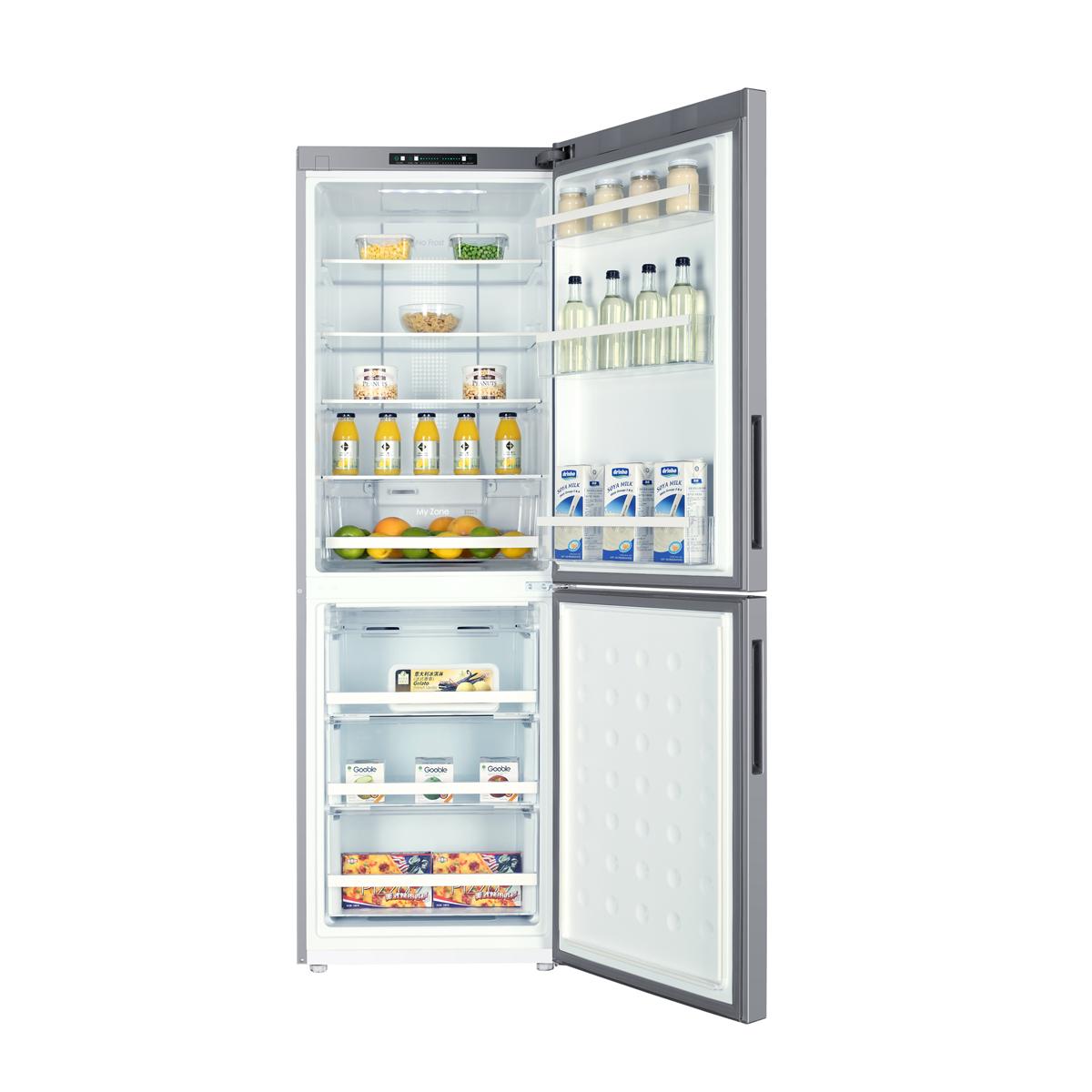 Refrigerateur congelateur en bas Haier C2FE632CSJ SILVER