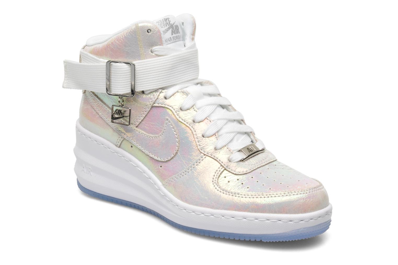 pas mal 70600 b135a Nike W Lunar Force 1 Sky Hi Prm Qs Blanc - Baskets Femme ...