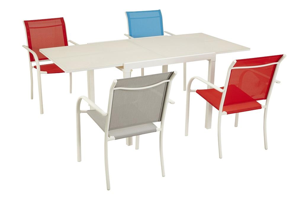 HYBA Table Tello extensible Taupe + Fauteuils pas cher ...