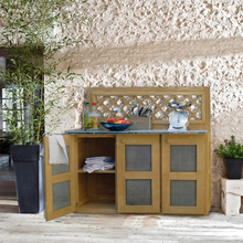 meuble de jardin la maison de valerie meuble de cuisine d 39 t. Black Bedroom Furniture Sets. Home Design Ideas