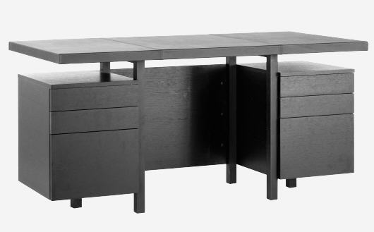 soldes bureau habitat kadloo bureau en ch ne et cuir. Black Bedroom Furniture Sets. Home Design Ideas