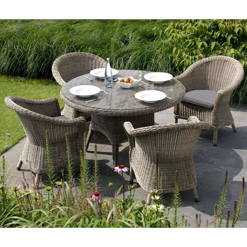 Table de jardin VICTORIA Plateau verre 4 Seasons Outdoor ...