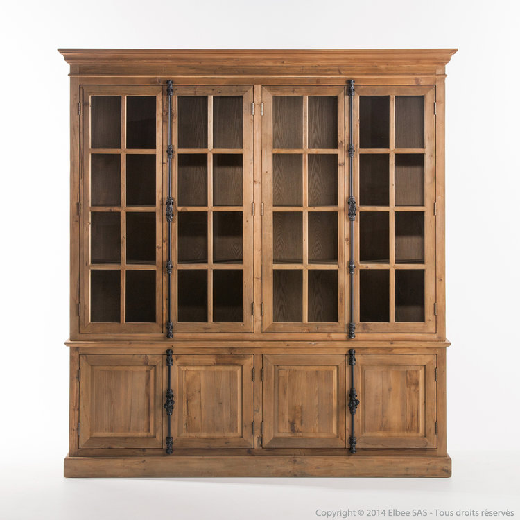 biblioth que en bois countryside soldes biblioth que. Black Bedroom Furniture Sets. Home Design Ideas