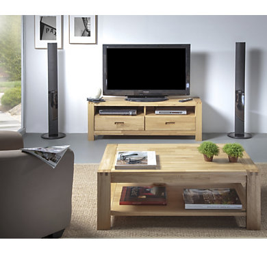 meubles camif ensemble table basse et meuble tv luminescence
