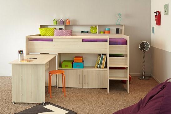 lit combin swan 90x200 cm acacia clair lit but pas cher. Black Bedroom Furniture Sets. Home Design Ideas