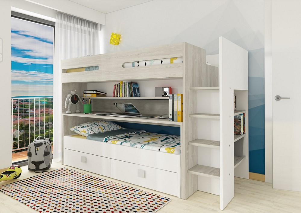 lit superpos s irazu am pm lit enfant am pm. Black Bedroom Furniture Sets. Home Design Ideas