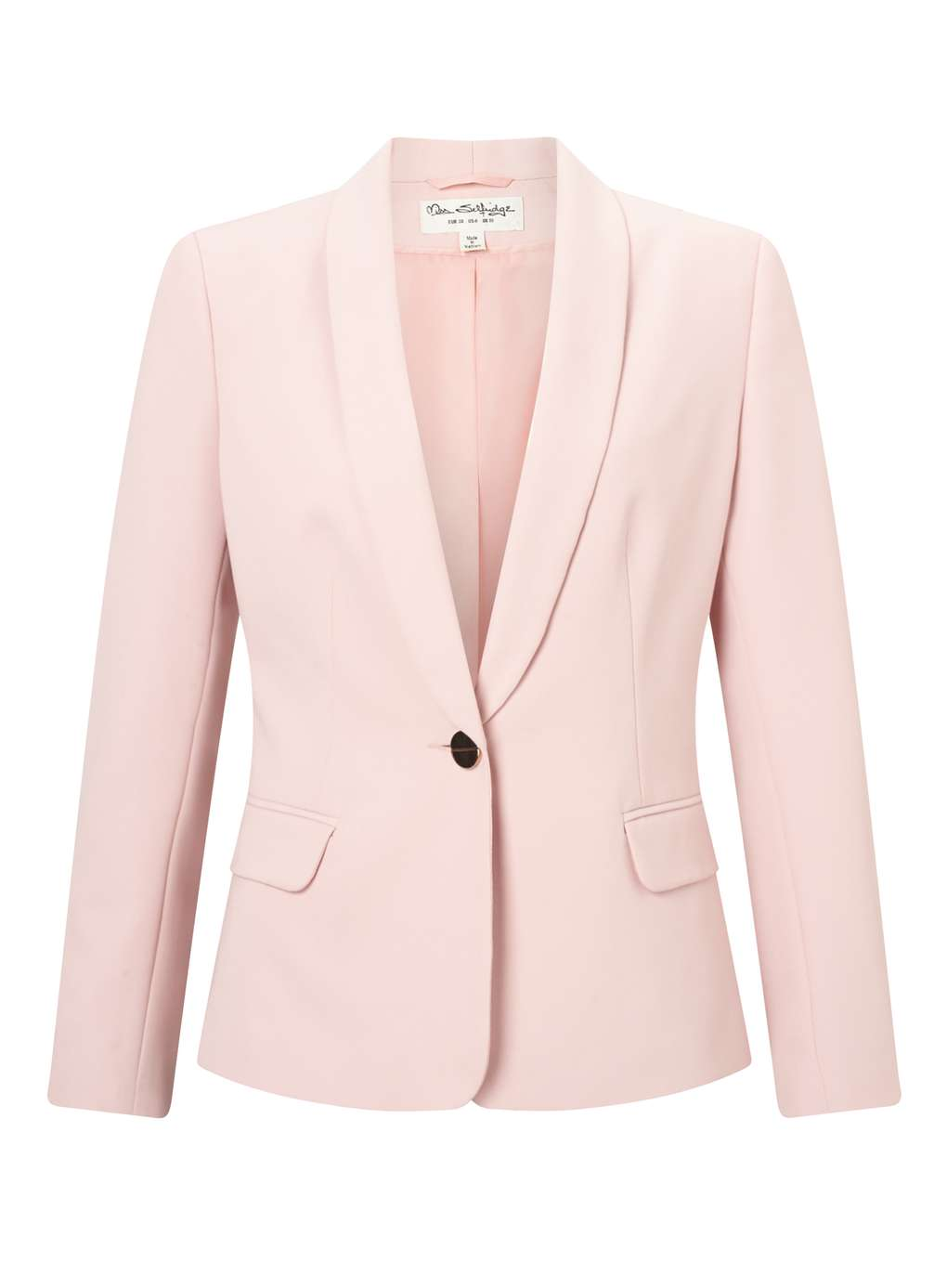 Blazer rose à un bouton Miss Selfridge Blazer Miss