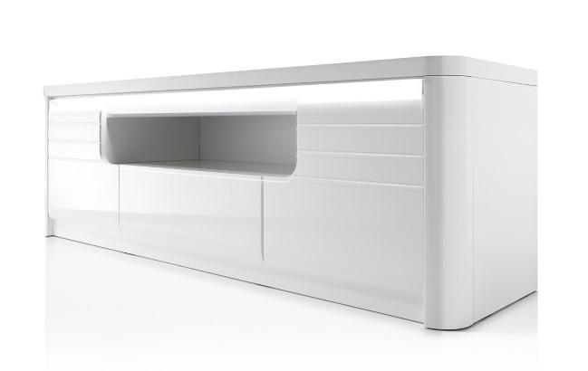 Meuble TV BELLINI décor blanc