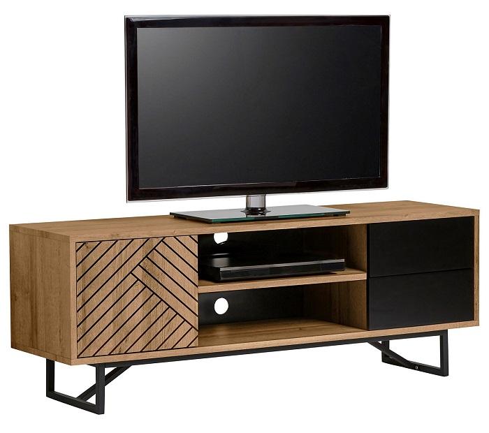 bas prix 0e3cf 95b32 Meuble TV ethnique EDEA Bois et Noir pas cher - Meuble TV BUT