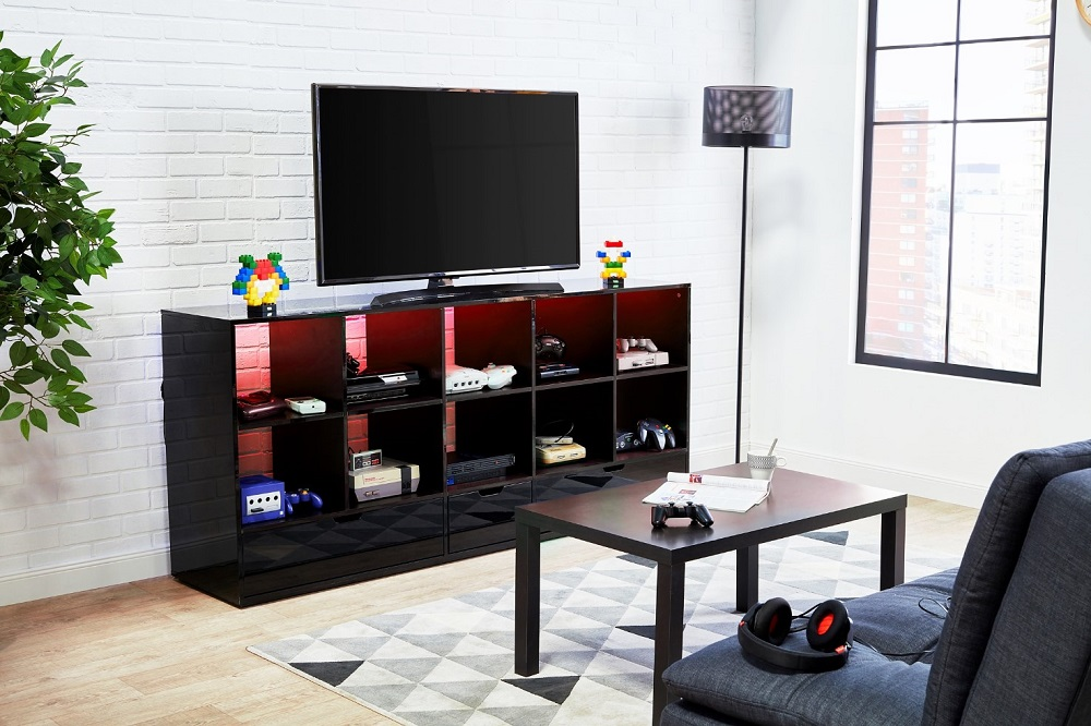 meuble tv 2 portes louis meuble tv conforama. Black Bedroom Furniture Sets. Home Design Ideas