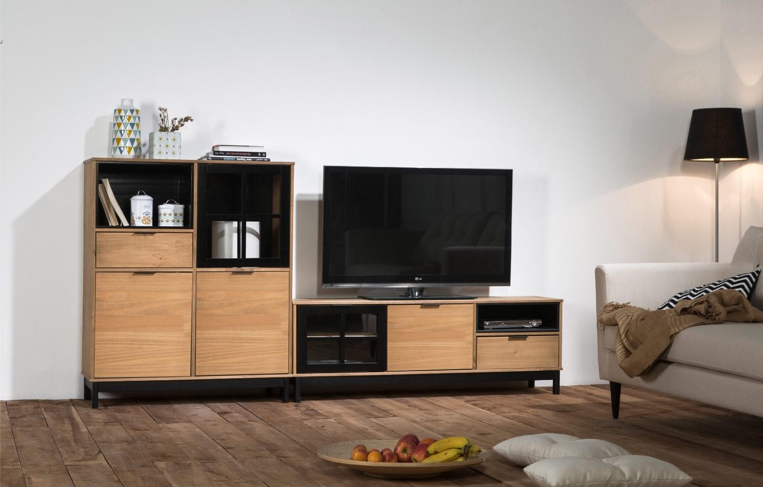 meuble tv 2 portes louis meuble tv conforama. Black Bedroom Furniture Sets. Home Design Ideas