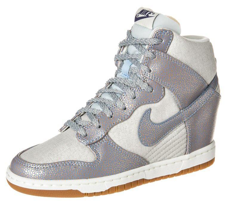 new style 99764 a98f2 Nike Sportswear DUNK SKY HI Bottines compensées argent - Zalando