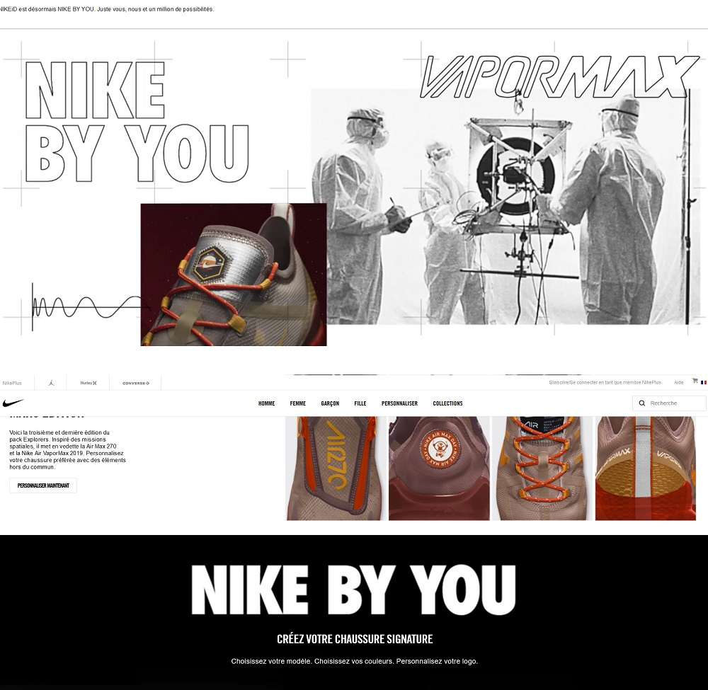 NIKE iD - Creation chaussures NIKE - NIKE iD vêtements NIKE