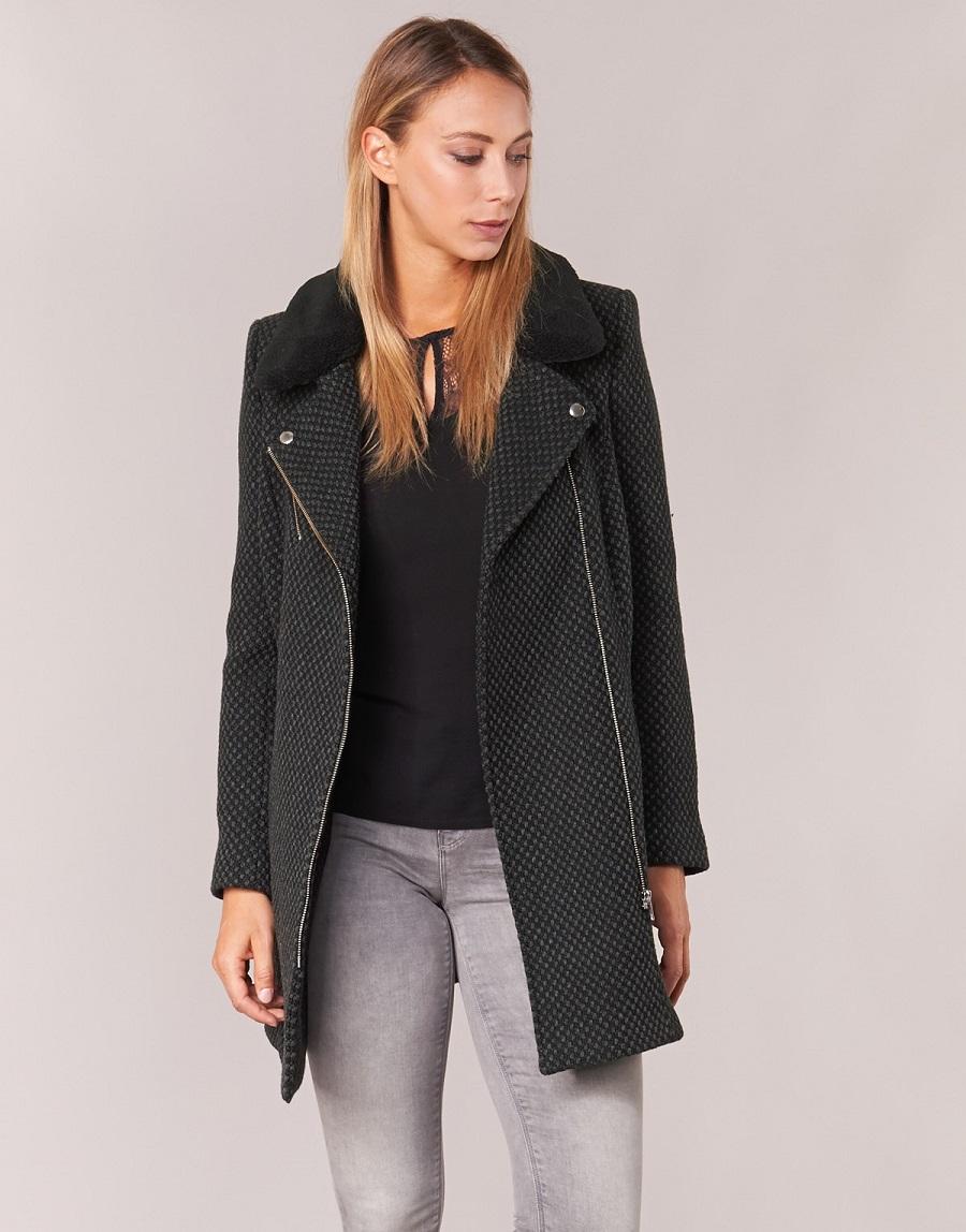Manteau noir femme naf naf