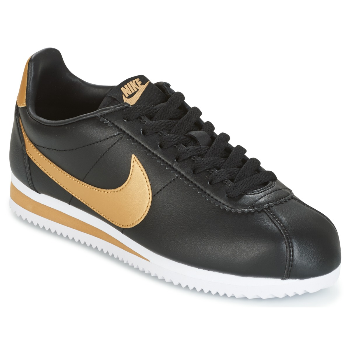 Nike CLASSIC CORTEZ LEATHER W Noir / Or