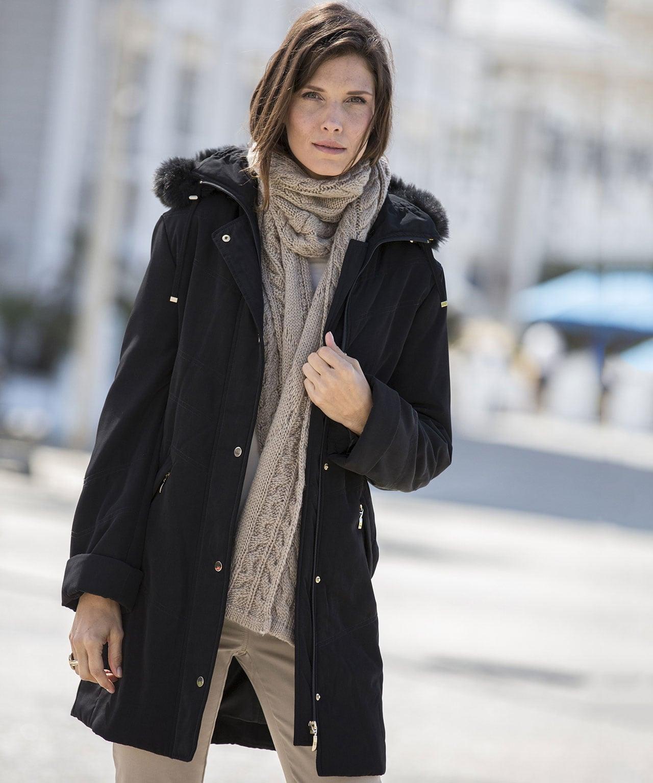 c05977e1ae2da Manteau microfibre déperlante Noir Damart - Manteau Femme Damart  (Mode)  ... En stock Offrez-vous la qualité et le confort des vêtements Damart à  prix ...