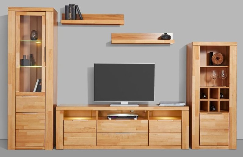 ensemble vitrine haute meuble tv meuble buffet le. Black Bedroom Furniture Sets. Home Design Ideas