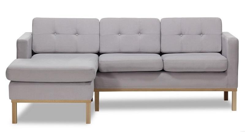 Canapé 3 places design Bjorn en bois et tissu