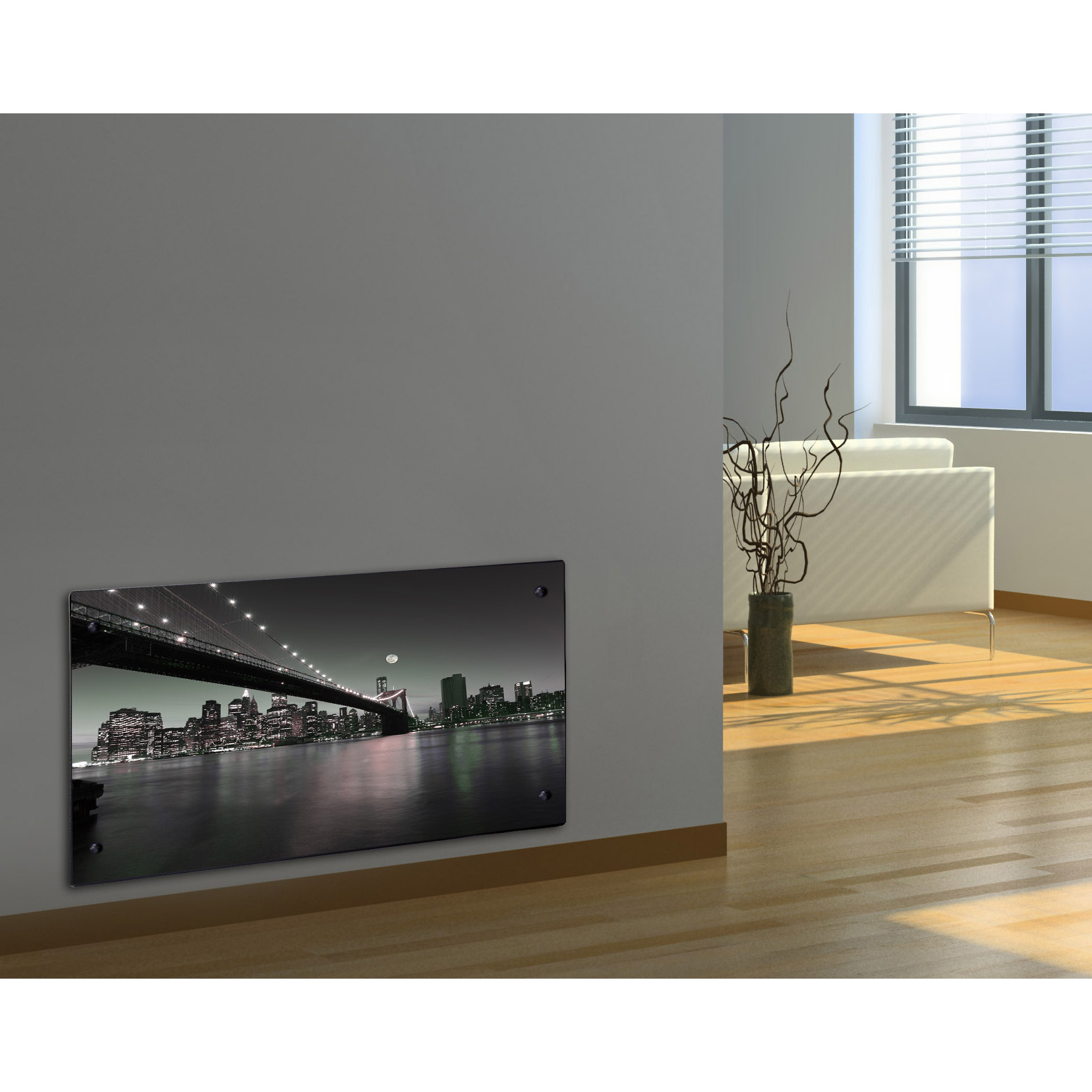 Vente flash radiateur lectrique design by night for Radiateur contemporain