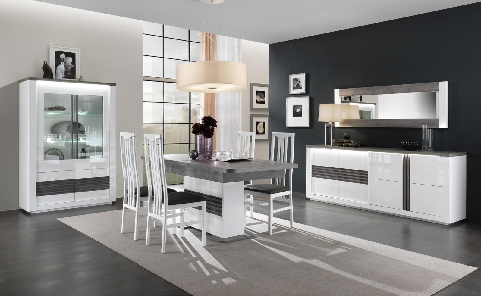 Table L180 All Vertigo Blanc Chene Gris Pas Cher Table But