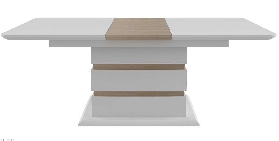 Table extensible nature ALNEA Blanc et chêne