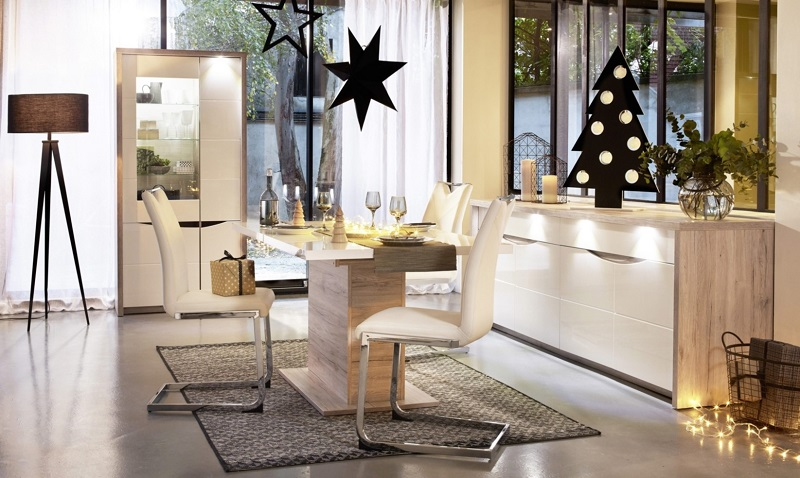 table rectangle allonge st tropez blanc ch ne pas cher table but. Black Bedroom Furniture Sets. Home Design Ideas