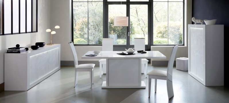 Table ch ne carr e 8 couverts biface naturel table salle for Salle a manger karma