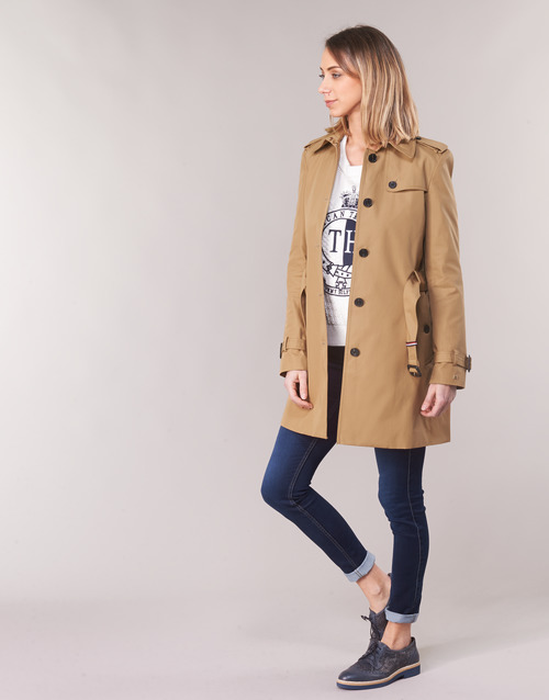 Tommy Hilfiger SEASONAL SINGLE BREASTED TRENCH Camel