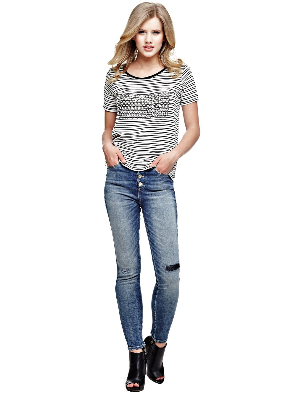 JEAN 5 POCHES TAILLE HAUTE Guess