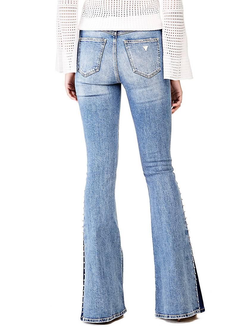 jean patte d 39 eph contrastes guess jeans femme guess. Black Bedroom Furniture Sets. Home Design Ideas