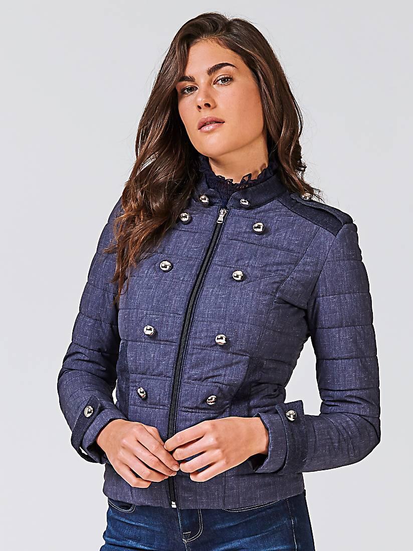 b8da05e8cf Guess ERNESTA Veste mi-saison dark blue denim - Veste Femme Guess: (Mode)  ... chez : Guess.fr État : Neuf, En stock Découvrez la nouvelle collection  Guess !
