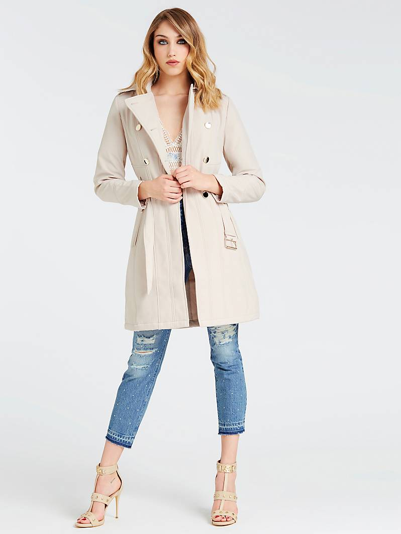 TRENCH TAILLE CEINTUREE Beige Guess