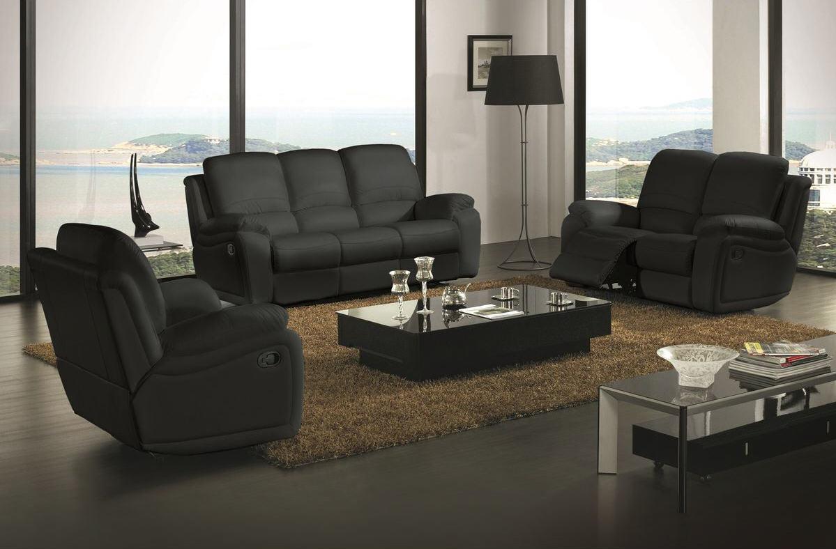 prix compétitif 90b10 af460 Ensemble Relax assise et dossier cuir 3 + 2 ZEN - Canapé ...