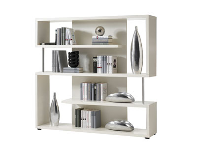 promo biblioth que conforama biblioth que twist coloris blanc. Black Bedroom Furniture Sets. Home Design Ideas