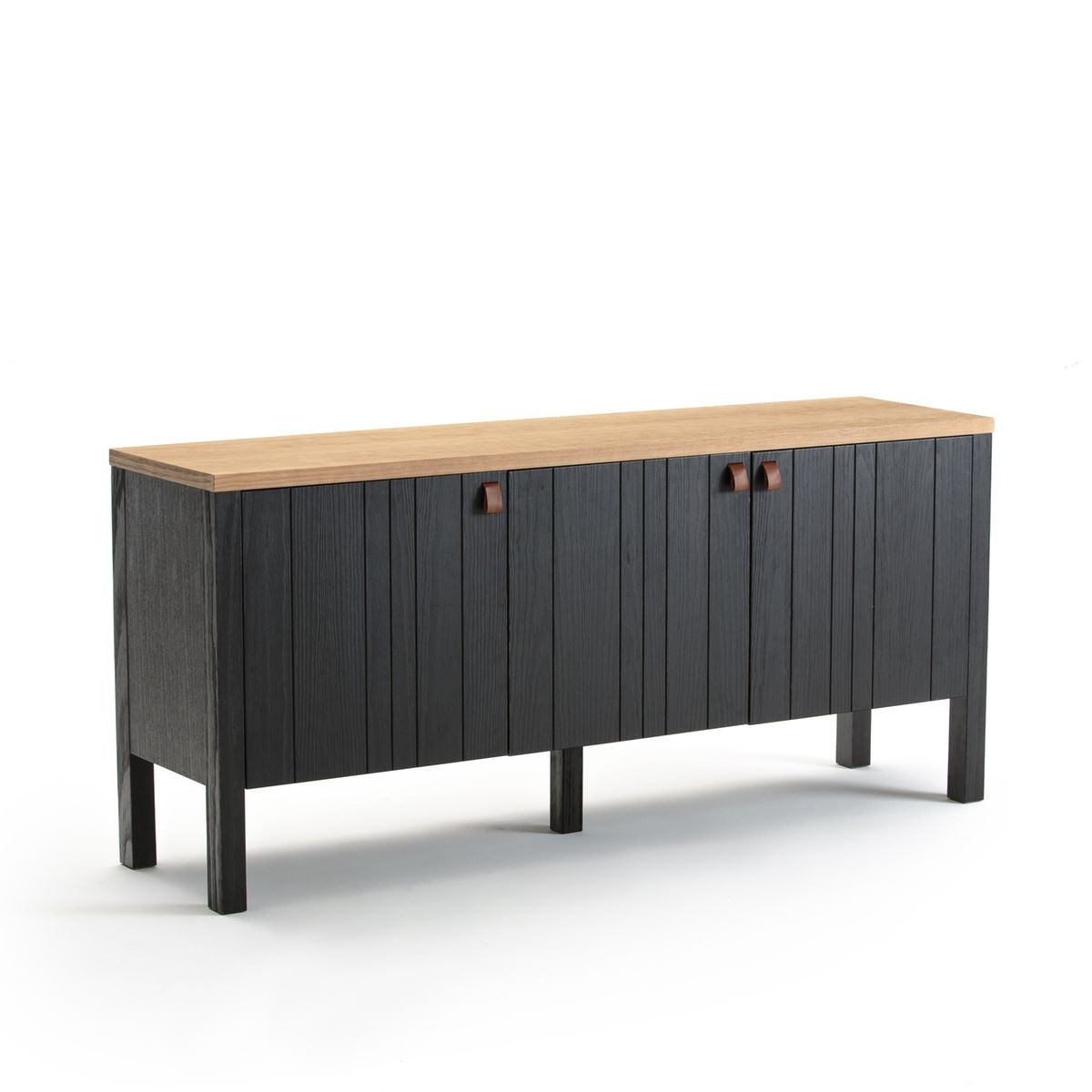 Living elise vaisselier conforama for Buffet noir