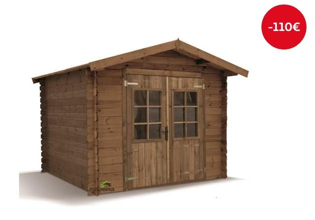 Abri de jardin bois traité ALVA 5.11m² - Auchan