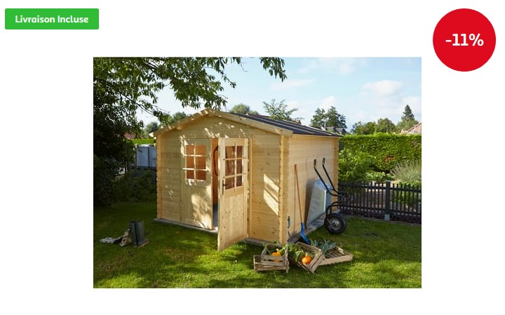 Abri de jardin bois Carrefour, KARIBU Abri Mühlendorf 4 avec appentis Iziva com # Abri De Jardin Auchan Bois