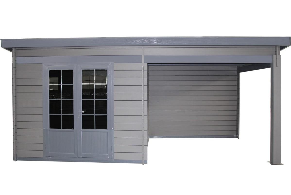 Abri De Jardin Composite abri de jardin composite colo / toit plat / 14.30m² - abri