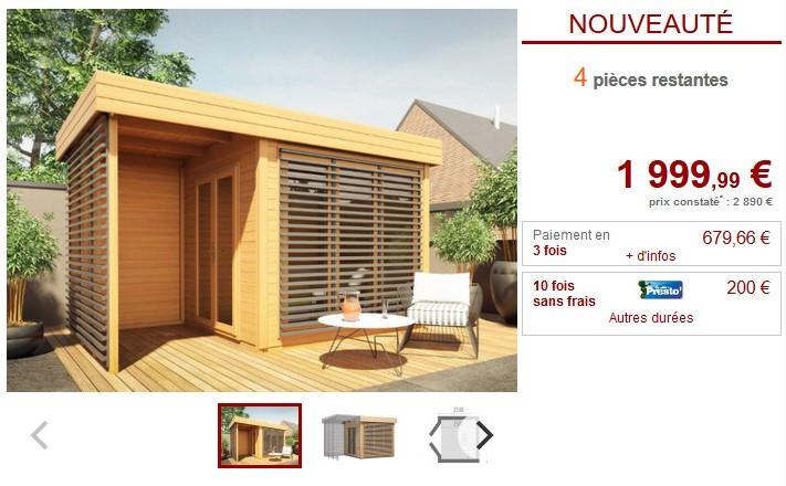 Abri de jardin en bois AMAKO + Terrasse couverte pas cher - Abri de ...