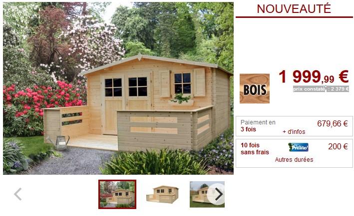 Abri de jardin en bois natsu terrasse abri de jardin vente unique - Vente abris de jardin en bois ...