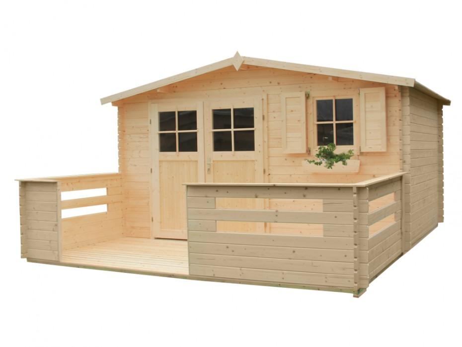 Abri de jardin en bois natsu terrasse abri de jardin for Abri jardin terrasse
