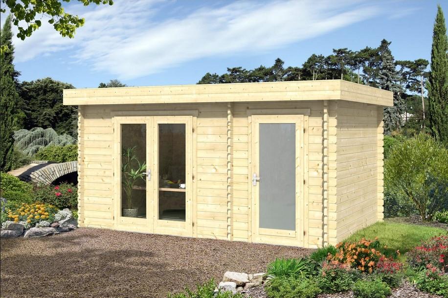 Abri jardin bois Onslow toit plat 11.21m² - Auchan
