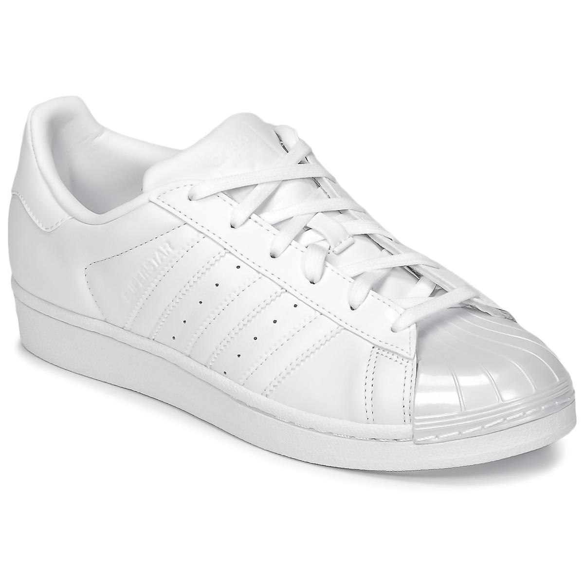 Sneaker Homme Pas cher en Soldes, Blanc, Cuir, 2017, 40adidas