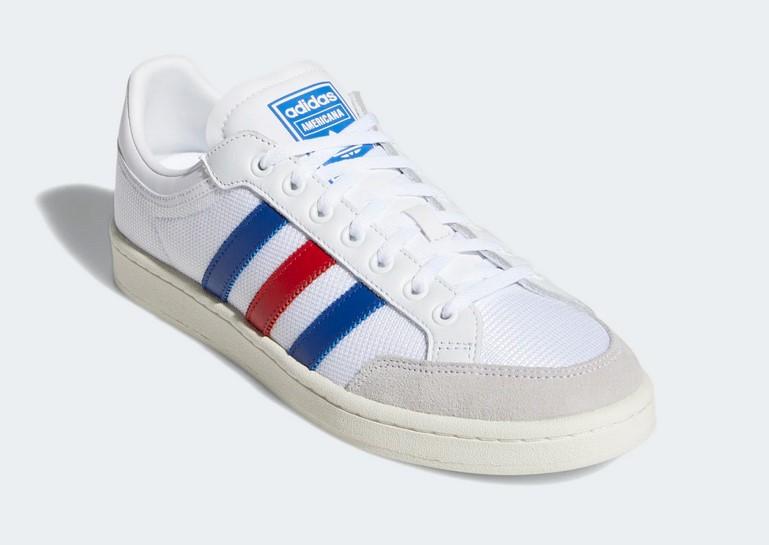 la moitié 4abbd 87470 Adidas Originals Americana Low W Baskets Basses Ftwr White / Collegiate  Royal / Scarlet - Baskets Femme Sarenza