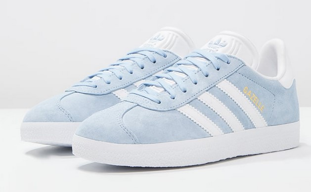 Adidas Originals GAZELLE Baskets basses clear sky/white/gold metallic
